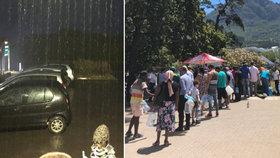 V Kapském Městě konečně zapršelo, voda ale dochází dál.
