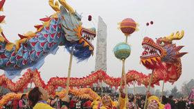 Číňané a další Asiaté oslavují nový lunární rok. Letošní se nese ve znamení zemského psa.