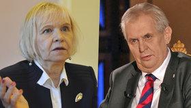 Velvyslankyně Eva Filipi a Miloš Zeman