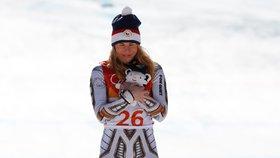 Gratulace, Ester! Česká lyžařka je v Koreji jedničkou na Super-G.