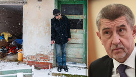 V domě, který patří Andreji Babišovi, se zabydlel bezdomovec.