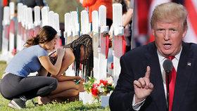 Trump chce po masakru zákaz úpravy pušek na samopaly. Zvažuje i vyšší věk pro držení zbraně