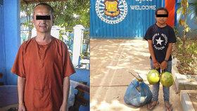 """""""Zneužívaná"""" holčička navštěvuje každý den Čecha vězněného v Kambodži: Vozí mu kokosy a melouny"""