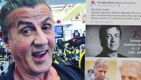 Sylvester Stallone vyvrací fámy o své smrti: Dívejte, žiju!