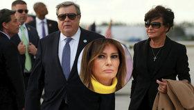 Rodiče první dámy USA Melanie Trumpové, Viktor a Amalija Knavsovi.