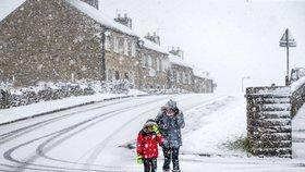 Velkou Británii zasáhne studená fronta, ilustrační foto.