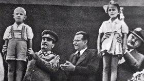 Klement Gottwald se Stalinem.