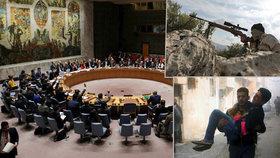 Rada bezpečnosti OSN schválila rezoluci o příměří v Sýrii.