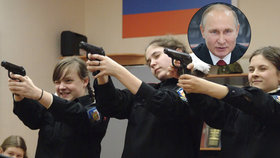Putin dal svolení k zakládání speciálních vojenských škol pro dívky. Další bude na Krymu.