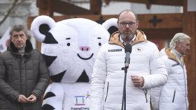 Ministr školství Robert Plaga (ANO) s Andrejem Babišem v Ostravě na Olympijském festivalu 2018