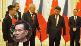 Vlivný čínský podnikatel Jie Ťien-ming, speciální poradce prezidenta Zemana
