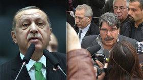 Erdogan odsoudil propuštění kurdského předáka v Praze.