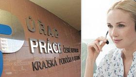 Úřad práce provozuje call centrum pro lidi, kteří si neví rady. (ilustrační foto)