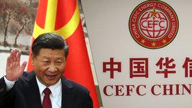 Kontrolu nad CEFC China Energy převzala státní agentura, píše Reuters. Vlevo čínský prezident Si Ťin-pching.