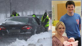 Bouře Emma na Britských ostrovech způsobila i dvojici netradičních porodů.