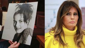 Melania Trump: Vlevo ještě coby mladá modelka, vpravo již jako první dáma USA