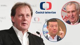 Miloš Zeman či Tomio Okamura opakovaně vyzývají ke zrušení koncesionářských poplatků pro ČT, kterou vede generální ředitel Petr Dvořák.
