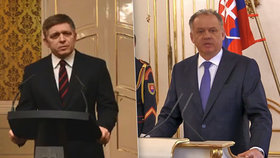 Slovenský premiér Robert Fico odmítl nedělní slova prezidenta Andreje Kisky.