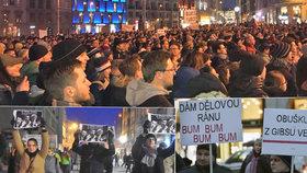 Demonstrace proti Zdeňku Ondráčkovi (KSČM) v čele komise pro kontrolu GIBS (5.3.2018)