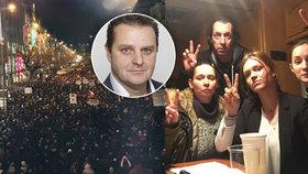 """České celebrity proti """"mlátičce"""" Ondráčkovi: Demonstrovaly na náměstích, cinkaly klíči!"""