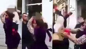 Matka při hádce přetáhla protivníka malým chlapečkem.