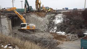 Demolice dálničního mostu (ilustrační foto)