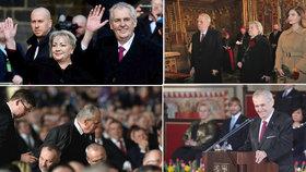 Druhá inaugurace prezidenta Miloše Zemana se neobešla bez kontroverzí