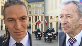 Předseda Pirátů Bartoš si zapomněl na inauguraci vzít pozvánky, senátor Kubera si vzal kravatu s prasaty a předseda ČSSD Hamáček přijel jako jediný s policejním konvojem. Proč?