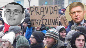 Den protestů na Slovensku. Lidé chtějí spravedlnost pro Kuciaka a vládu bez vazeb na mafii.