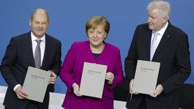 Olaf Scholz, Angela Merkelová, Horst Seehofer
