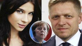 Fico zřejmě Troškovou před setkáním s Merkelovou povýšil.