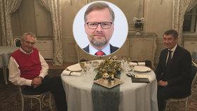 Miloš Zeman opět povečeří s Andrejem Babišem, na schůzku s premiérem se chystá i Petr Fiala.