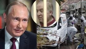 Ruský prezident Putin reagoval na dotaz o tom, zda Rusové mohou za otravu Skripalova, úsměškem