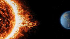 K Zemi míří solární bouře.