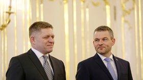 Premiér Robert Fico předal na Slovensku svoji demisi. Nahradil ho jeho vicepremiér Peter Pellegrini (15. 3. 2018).
