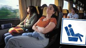 České dráhy vyčlenily několik míst ve svých vlacích jen pro ženy už v roce 2012. Někteří muži se cítí diskriminováni. U ombudsmanky se stížností ale nepochodili. (Ilustrační foto)