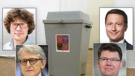 Předsedové Štěpánek- Zelení,Robejšek-Realisté, Pajonk- Svobodní, Pospíšil TOP09