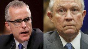 Ministr spravedlnosti Jeff Sessions s okamžitou platností odvolal náměstka ředitele FBI McCabea.