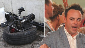 Moderátor Anthony McPartlin měl autonehodu.