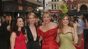 Hvězda seriálu Sex ve městě Cynthia Nixonová (druhá zleva) se chce stát guvernérkou státu New York