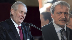 Prezident Miloš Zeman a šéf české diplomacie Martin Stropnický (ANO)