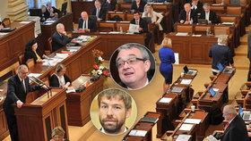 Sněmovna poslala do druhého čtení novelu trestního zákoníku, ministr spravedlnosti Robert Pelikán nad ní diskutoval s Markem Bendou o nově navrhovaném trestném činu maření spravedlnosti.