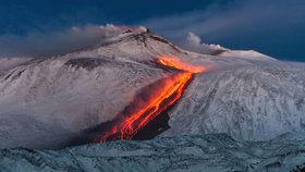 Etna je nejaktivnější evropskou sopkou