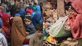 Mnoho dětí afghánských uprchlíků skončilo na ulici, osmiletá Zarmína se živí sběrem odpadků.