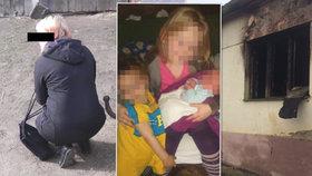 Matka dětí zemřelých při požáru: Dcera s miminkem zabloudila, syna jsem v kouři nenašla
