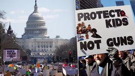 """""""Chraňte děti, ne zbraně."""" Stovky tisíc Američanů vyrazily po masakru do ulic"""