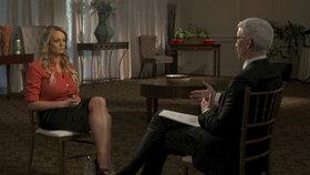 Pornoherečka Stormy Daniels (Stephanie Cliffordová) promluvila o údajném sexu s Donaldem Trumpem na CBS v rozhovoru s Andersonem Cooperem