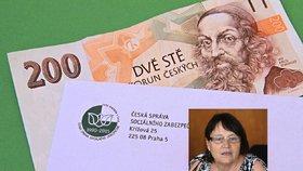 Invalidní žena z jižní Moravy dostávala od státu jen 880 korun, pomohla jí ombudsmanka Šabatová.