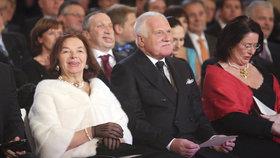 Václav a Livia Klausovi na Hradě