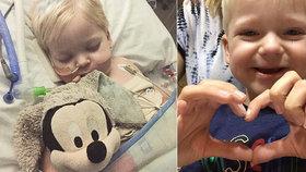 Velikonoční zázrak! Malý Dylan přes nepřízeň osudu přežil a nyní je to zdravý malý rošťák!